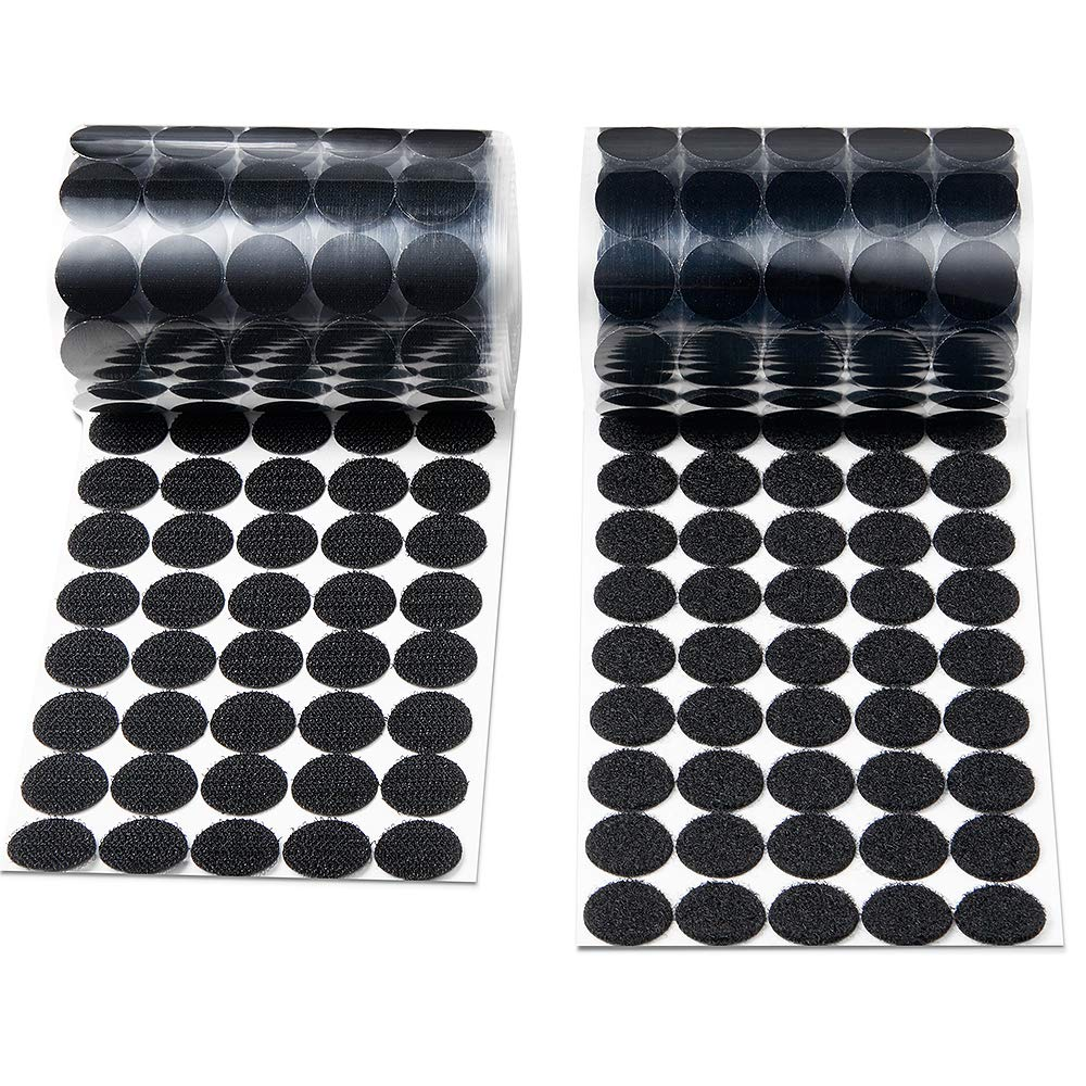 504 Pair Sets Heze 1008pcs 15mm Diameter Sticky Back Coins Hook /& Loop Self Adhesive Dots Tapes Magic Sticky Dots White, 1008pcs