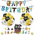 Harry Potter Globos Decoración de fiesta, Fiesta temática Decoracion Globos de latex Cumpleaños de Dibujos Animados Bunting Banner Balloon Birthday Decorations Garland Set para Niños