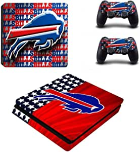 Waterproof Colorful Vinyl For PS4 Slim Sticker For Sony Playstation 4 Slim Console 2 controller Skin Sticker For PS4 S Skin Waterproof Sticker