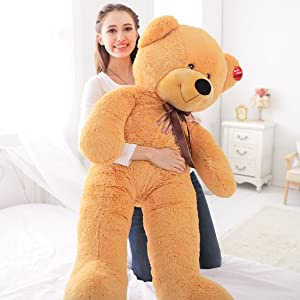 "Niuniu Daddy 47"" Teddy Bear , Super Cute & Huggable Stuffed Plush Animal Pillow Toy"