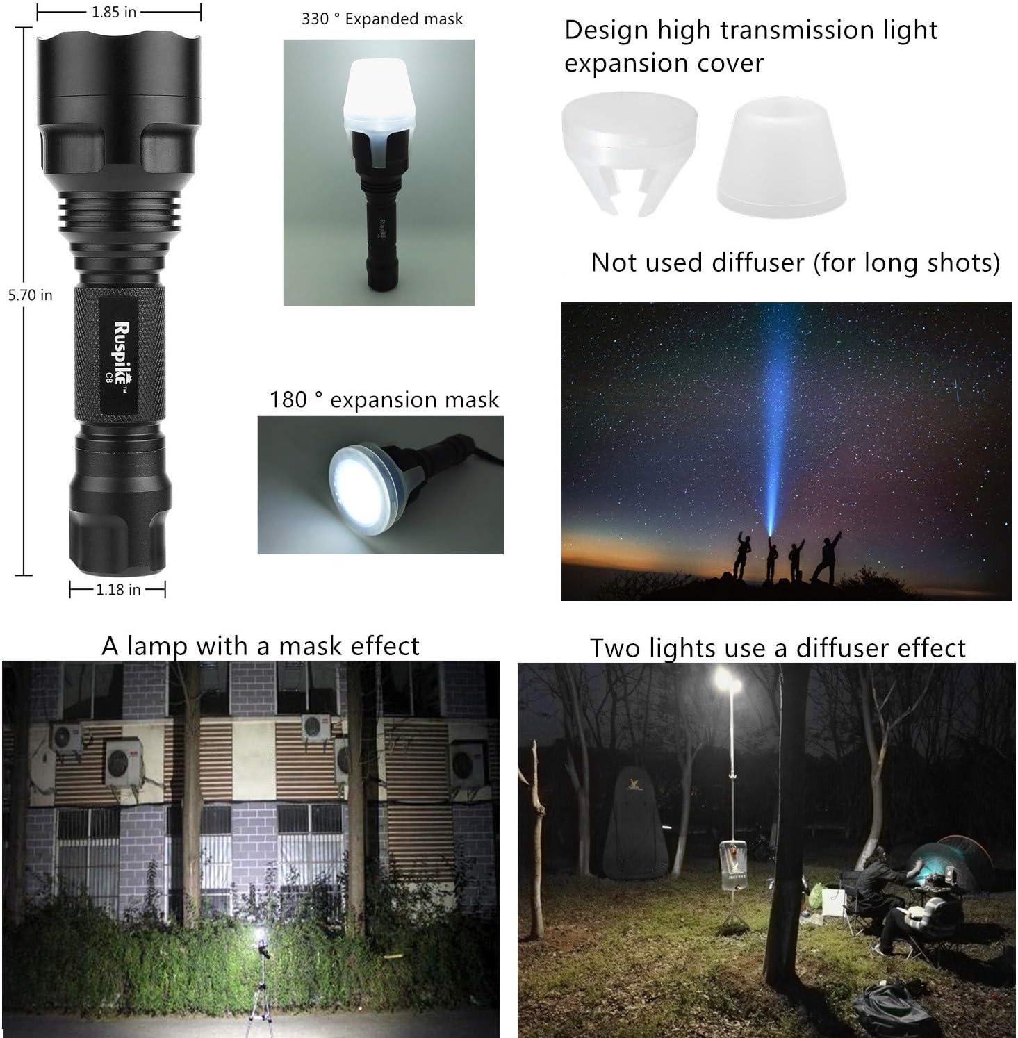 Ruspike LED Camping Lantern Flashlight Ultra Bright Multifunction Portable Waterproof Camping Lantern Light Perfect for Hiking Outdoor Emergency etc.