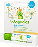 Babyganics Lip & Face Balm, Fragrance Free 0.25 oz