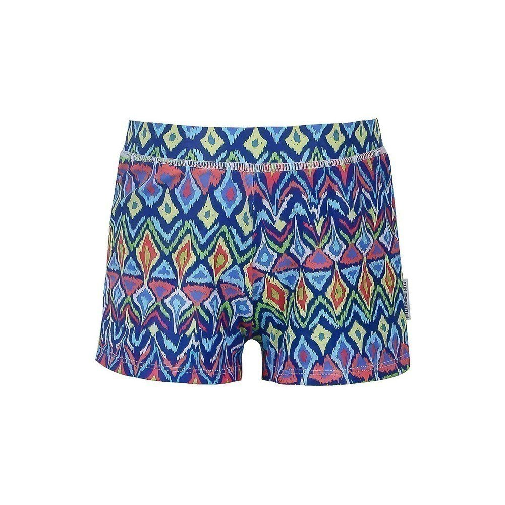 Sun Emporium Little Boys Multi Color Ikat Sun Protective Euroleg Shorts 2-6