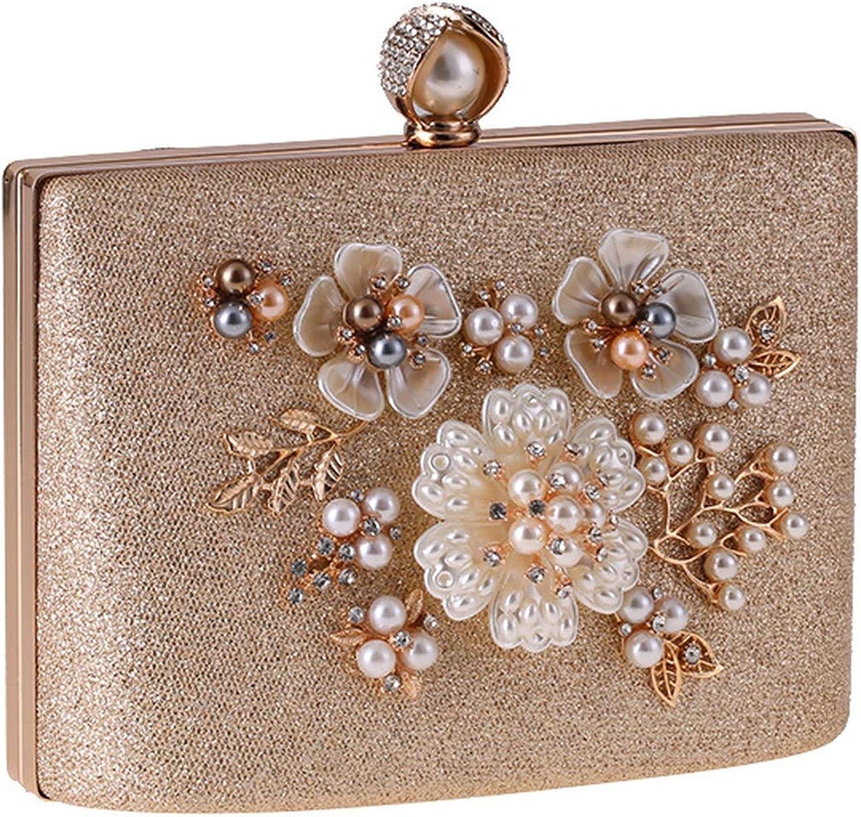 Women Evening Bag Pearl Handbag Bag Small Chain Shoulder Messenger Bags