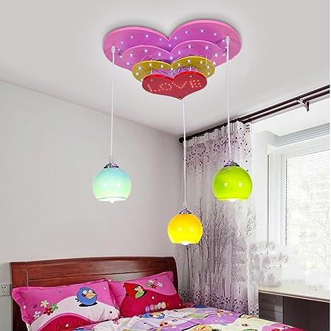 Kun Peng Shop Lovely Multistrato A Forma Di Cuore Creativo Lampada  Lampadario Camera Bambini Ragazza Caldo