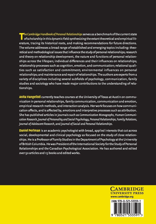 The Cambridge Handbook of Personal Relationships (Cambridge Handbooks in Psychology)