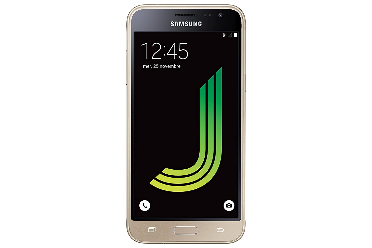 Samsung Galaxy J3, Smartphone Libre (5'', 1.5GB RAM, 8GB, 8MP/Versión Francesa: No Incluye Samsung Pay ni Acceso a promociones Samsung Members), Color Dorado