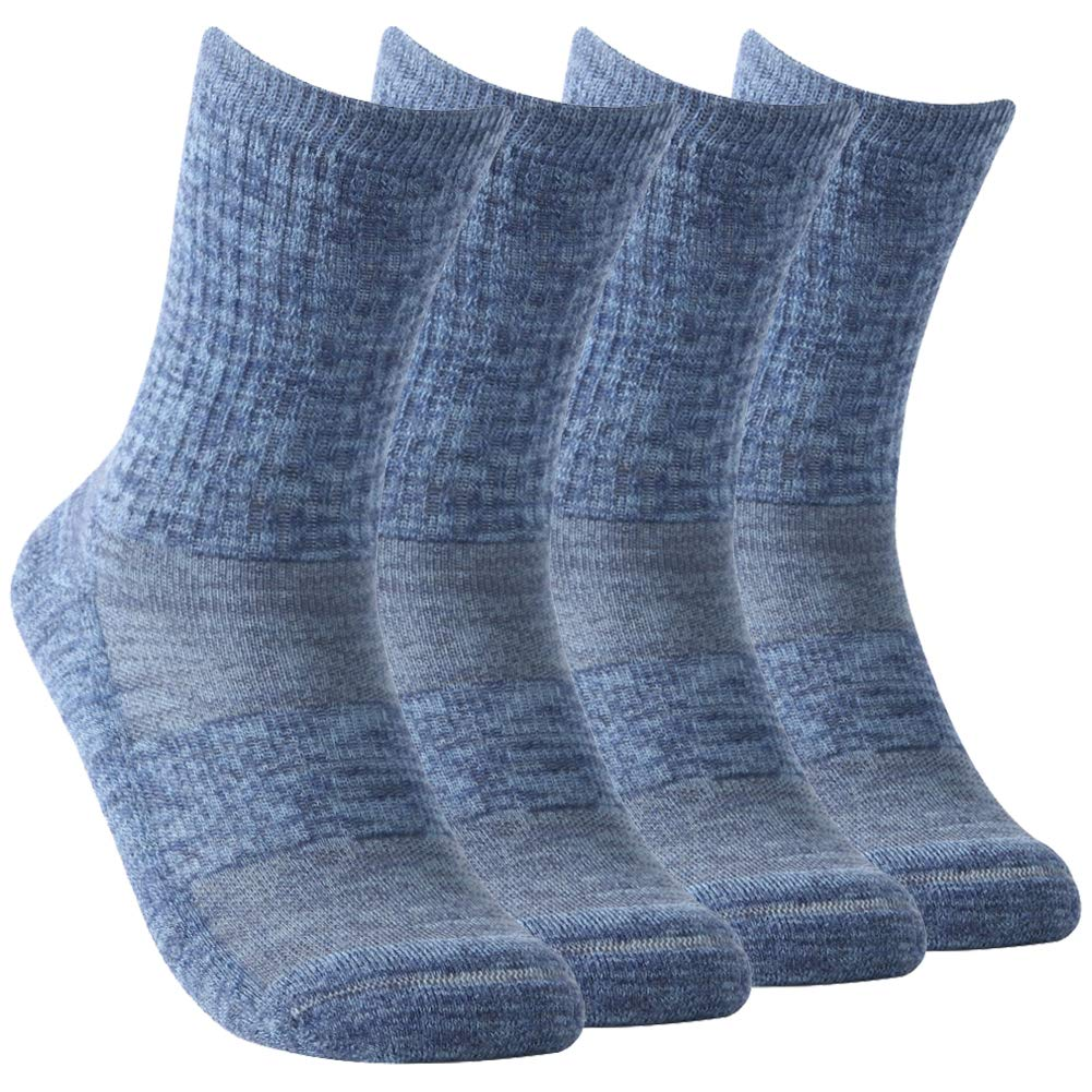 Golf Socks,Women's Extra-fine Merino Wool Socks Breathable Mesh Cycling Socks Moisture Wicking Athletic Outdoor Hiking Trail Crew Sock with Arch Support Vive Bears,4 Pairs by Vive Bears