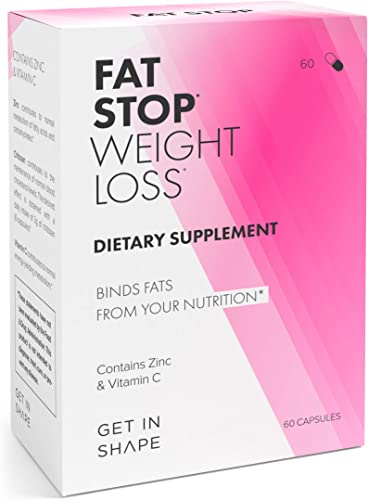 FAT STOP Weight Loss Pills that Bind Fats from Food and Reduce Calorie Intake Fat Blocker with Chitosan, high Dosage . - Weight Loss Supplements by GET IN SHAPE