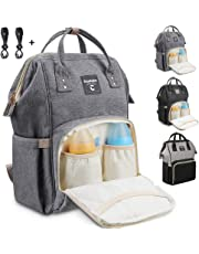 Conleke Diaper Bag Backpack for Baby Care, Multi-Functional Waterproof Travel Backpack Nappy Tote Bags Large Capacity Creative Fashion Package Best Gift for Mom&Dad (Designed for Large Bottles)