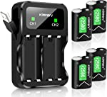 Kinfayv Xbox One Battery Pack 4 x 2580mAh Rechargeable Controller Battery
