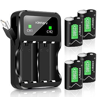 Amazon.com: KINFAYV - Batería para Xbox One (4 x 2580 mAh ...
