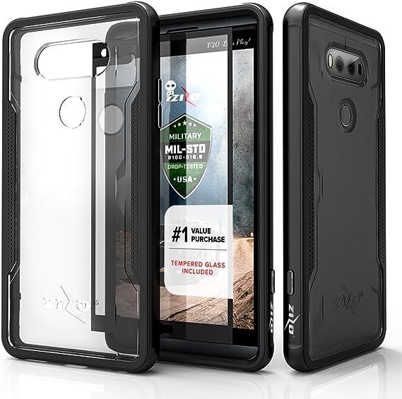 Zizo SHK-LGV20-BLK Funda para teléfono móvil Negro, Transparente ...