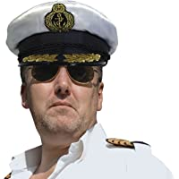 Fancy Dress Sea Captain Hat - Peaked Cap met vlecht