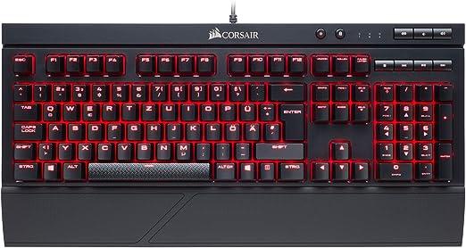 Corsair - Teclado mecánico para Gaming K66 (no necesariamente español) Cherry MX Red