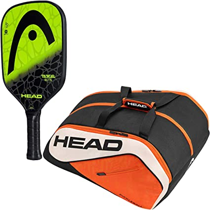 HEAD Radical Pickleball Paddle Starter Kit or Set Bundled with an Orange/Black Tour Team Supercombi Pickleball Bag (Best for Beginner and Intermediate ...