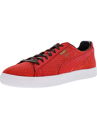 2f516055f0fc Puma Mens Clyde GCC Risk Red Black Synthetic Size 8