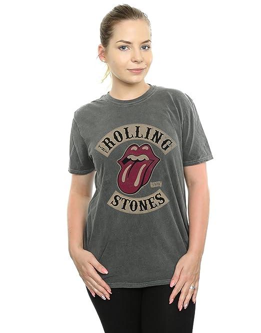 Rolling Tour Camiseta FitAmazon Novio 78 Stones es Mujer Lavada xedCBo