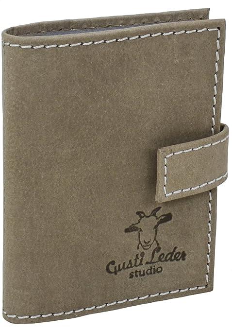Gusti Leder studio Tarjetero de Cuero para Tarjetas de Crédito Identificación Presentación Estuche Cartera de Piel