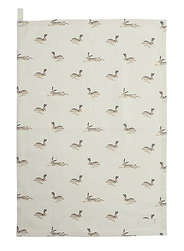 Sophie Allport Cotton Tea Towel - Hare Design