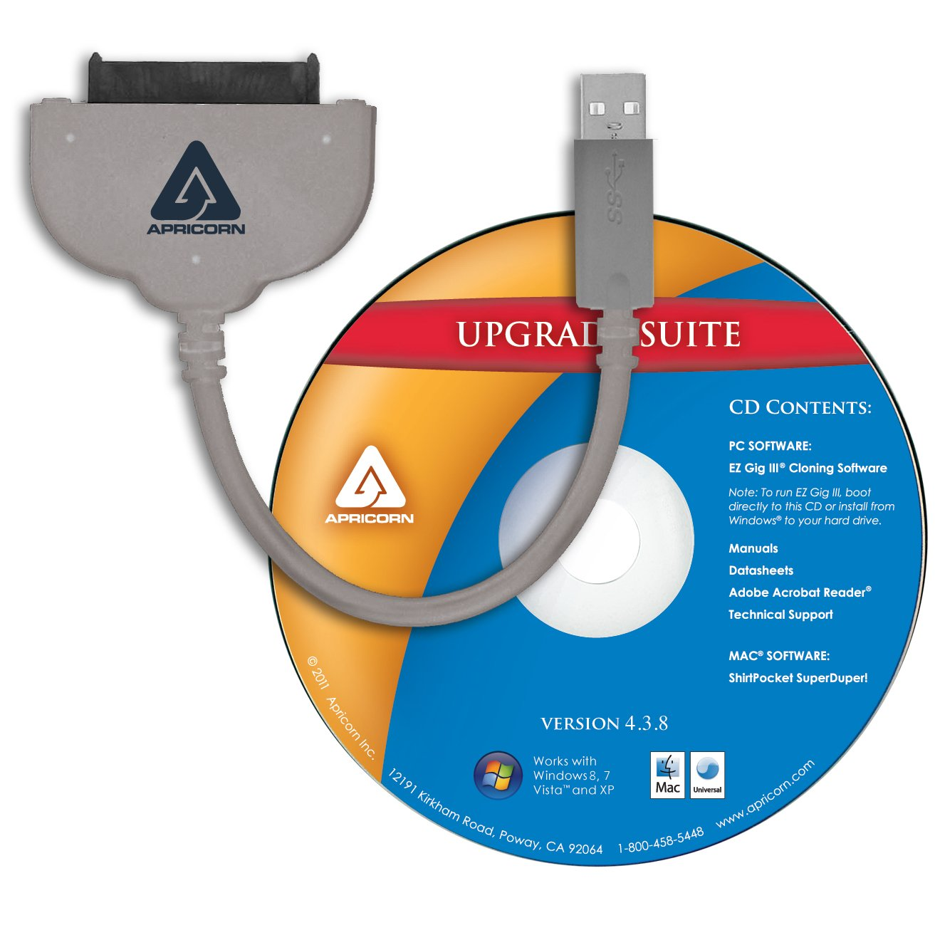 amazon com apricorn sata wire notebook hard drive upgrade kit with rh amazon com Hard Drive USB Adapter Amazon Hitachi Laptop HDD to USB Adapter