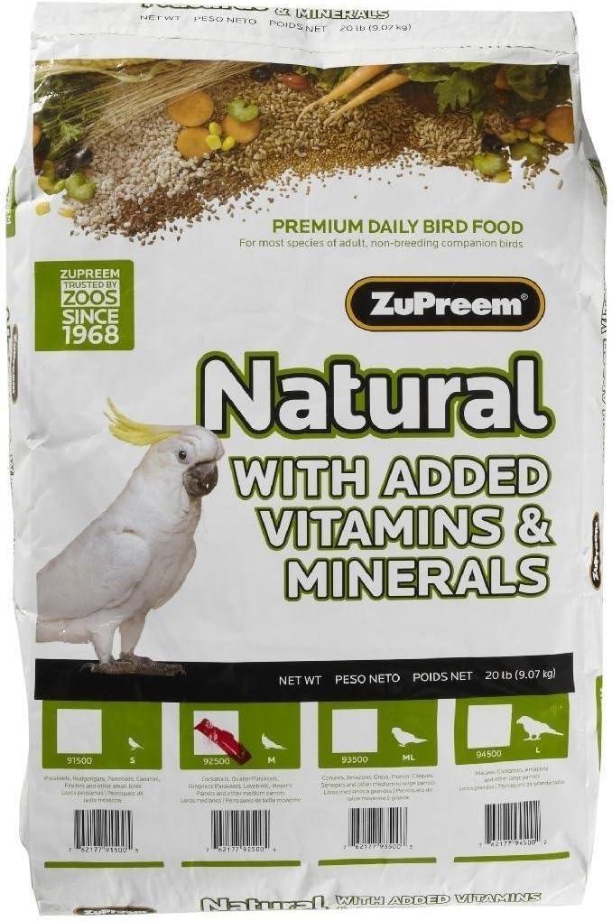 Zupreem Natural Medium Bird Food
