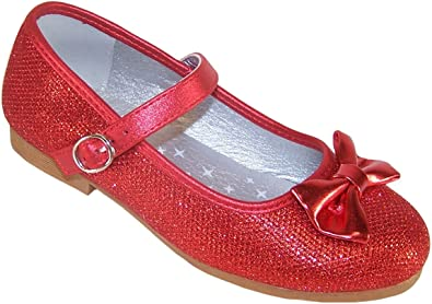 Get - girls red flat shoes - OFF 78