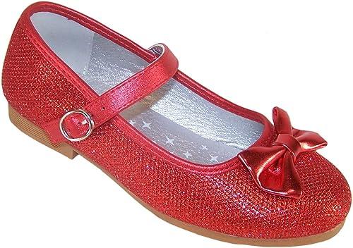 Girls red Sparkly Glitter Ballerina