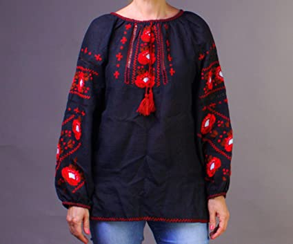 d9236fe6915f9f Image Unavailable. Image not available for. Color: Rushnichok Vyshyvanka  Women Ukrainian Hand Embroidered ...