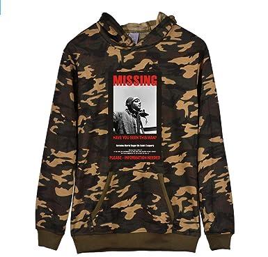 3d065c05e160f Gogofuture Sweatshirts à Capuche Camouflage Unisexe Populaire Vestes  Imprimées Pullover avec Manches Longues Sweat à Capuche pour Hommes et  Femmes  ...