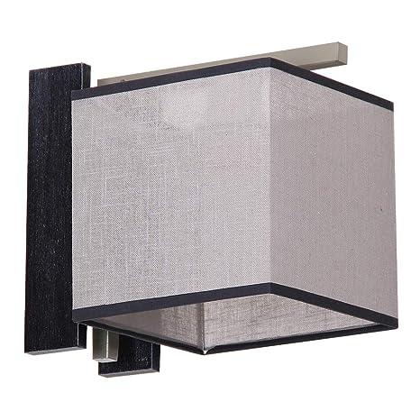 luz de Experiencias F/LU/171110/621 elegante aplique Bauhaus 1 x E27 hasta 60 W 230 V gewebten plástico & Metal Piso Salón Lámpara de pared: Amazon.es: Iluminación
