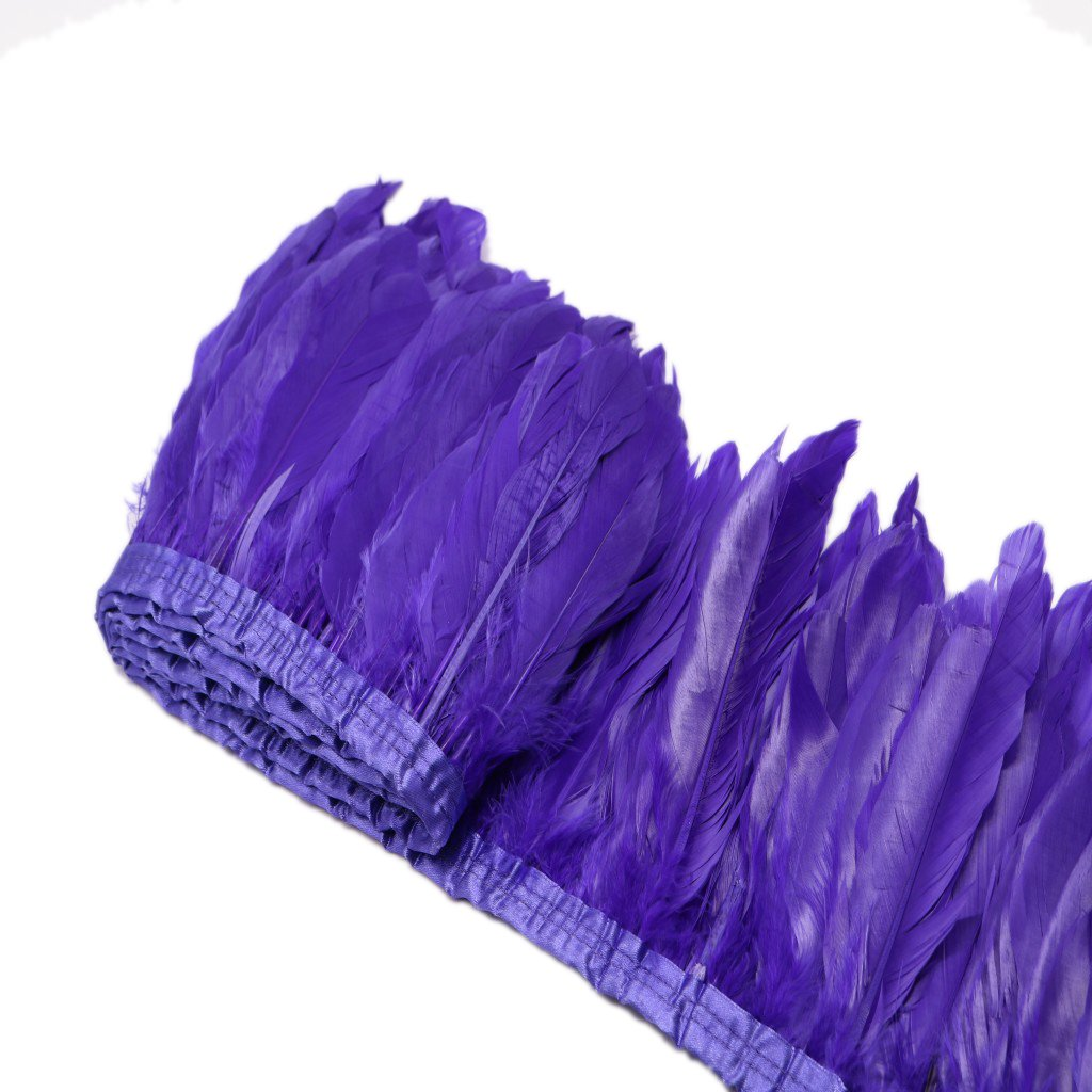 Beautiful Natural Goose Feather Fringe Sewing Trim for DIY Crafts Stage Costumes Clothes Wedding Decoration - Purple MagiDeal STK0155006032