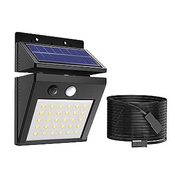 ERAY Luz Solar Exterior, Foco Solar 30 LED 400 Lúmenes con Sensor de Movimiento,