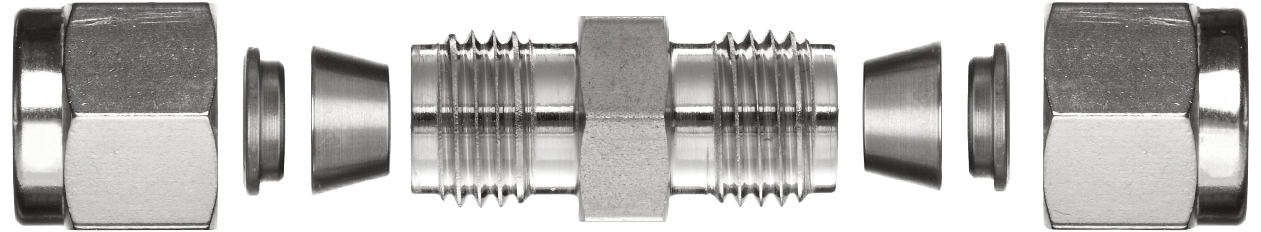 3//8 Tube OD x 1//4 Tube OD 3//8 Tube OD x 1//4 Tube OD Parker Hannifin Parker A-Lok 6RU4-316 316 Stainless Steel Compression Tube Fitting Reducing Union