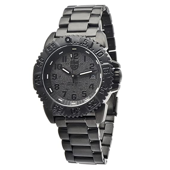 Luminox 3152.BO - Reloj de Pulsera Hombre, Acero Inoxidable, Color Negro