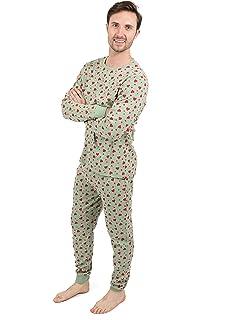 3ca9d24fbad Leveret Men s Pajamas Fitted Owl 2 Piece Pjs Set 100% Cotton Sleep ...