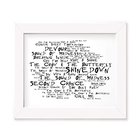 Shinedown Poster Print - The Sound of Madness - Lyrics Gift Signed ...