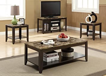 Monarch Cappuccino Coffee Table Set