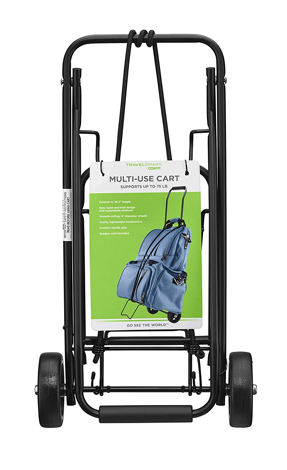 7fcfa782799d Amazon.com: Travel Smart by Conair 80 lb. Folding Multi-Use Cart ...