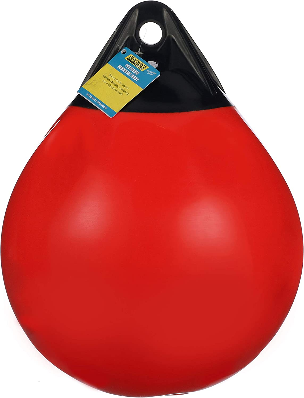15 Inch Diameter Seachoice 79236 Commercial-Grade Buoy Bright Signal Orange All-Purpose Buoy