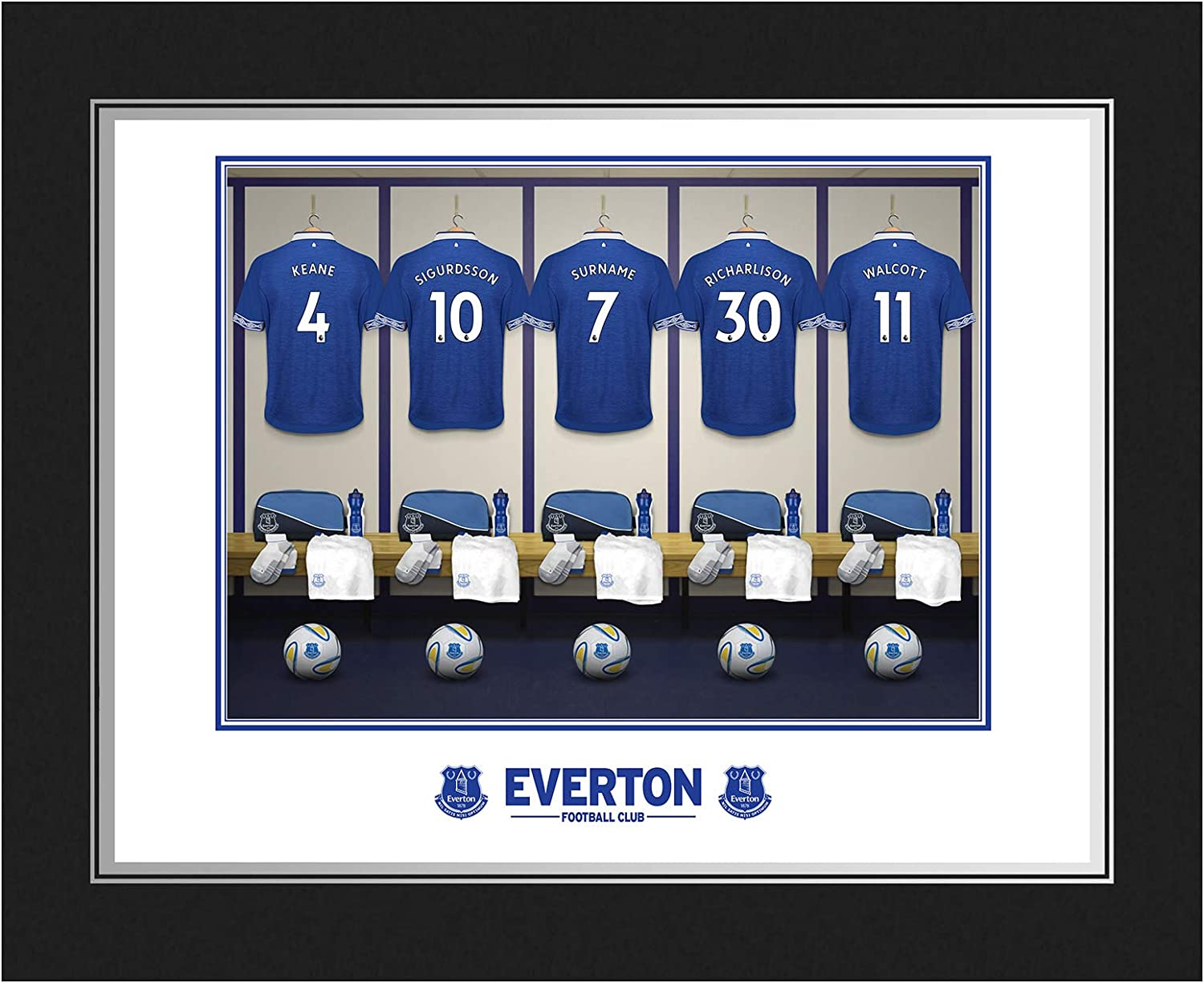 Folder Everton Official Personalised Dressing Room Photo