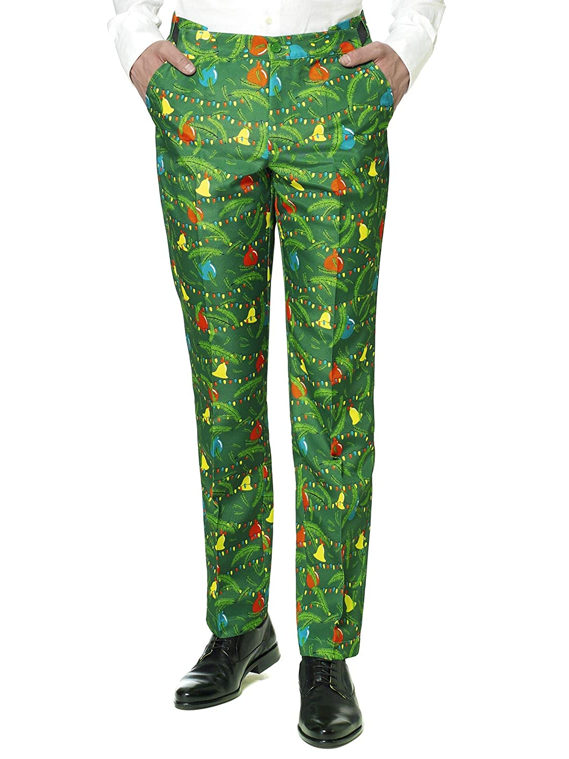 c29f475080548 Amazon.com: Suitmeister Christmas Suits for Men in Different Prints – Ugly  Xmas Sweater Costumes Include Jacket Pants & Tie: Clothing