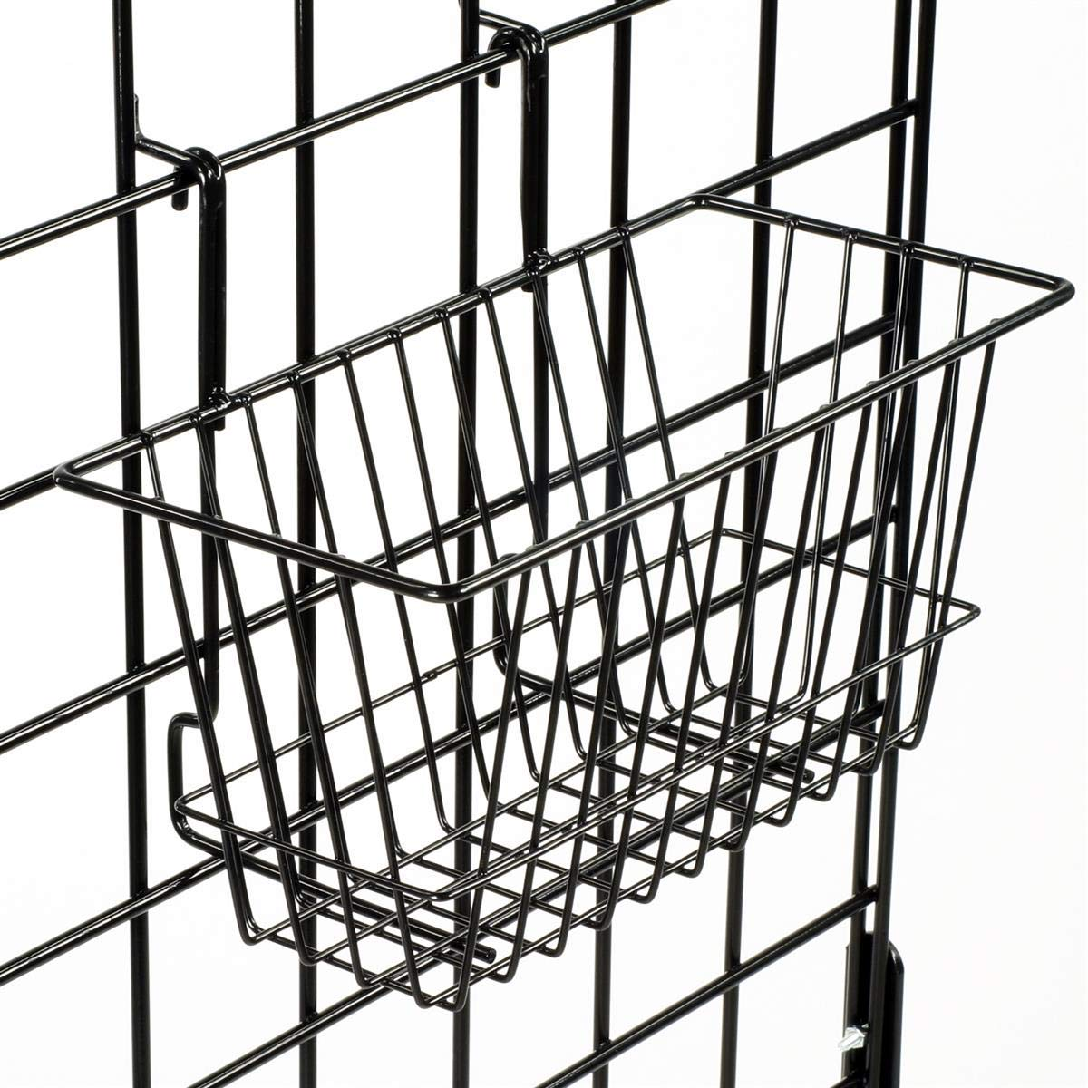 Only Hangers Small Wire Storage Baskets for Gridwall, Slatwall and Pegboard - Black Finish - Dimensions: 12'' x 6'' x 6'' Deep - Economically Sold in a Set of 6 Baskets by Only Hangers (Image #4)