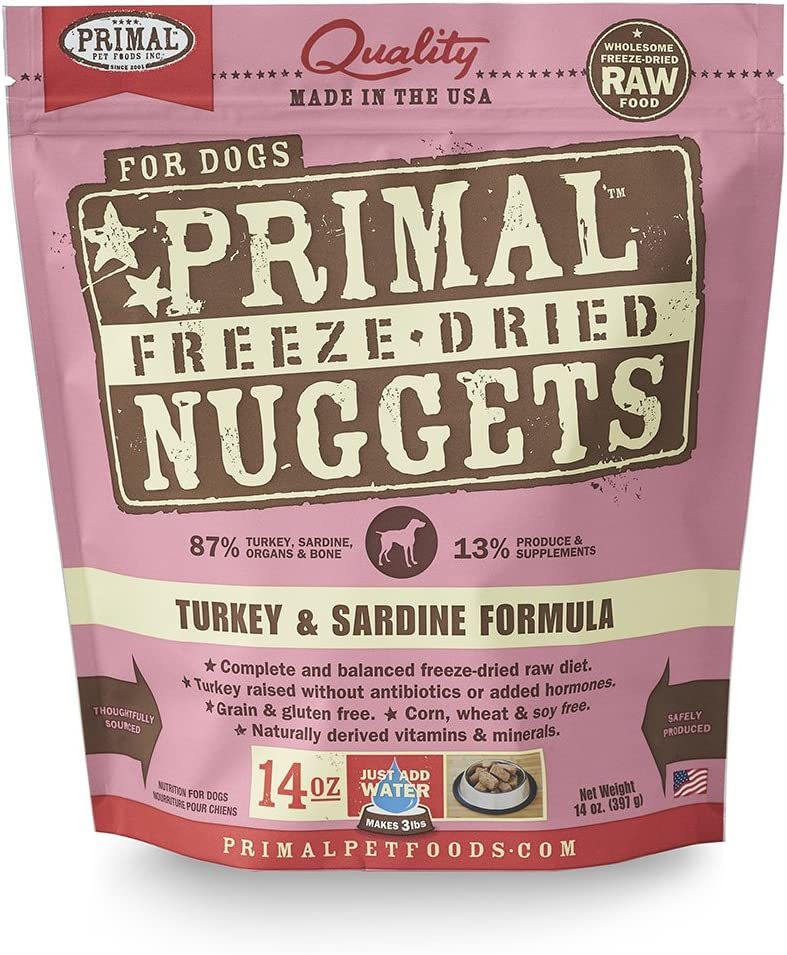 Primal Freeze Dried Dog Food Turkey & Sardine Formula