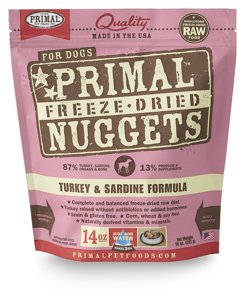 Primal Pet Foods Freeze-Dried Canine Turkey And Sardine Formula, 14 Oz by Primal Pet Foods
