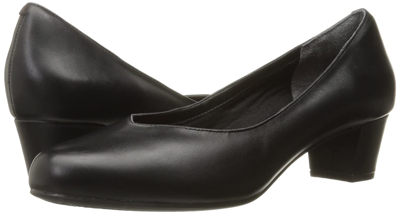 Rockport Women's Total Motion Charis Dress Pump B01ABRN8XC 8.5 W US|Black Leather