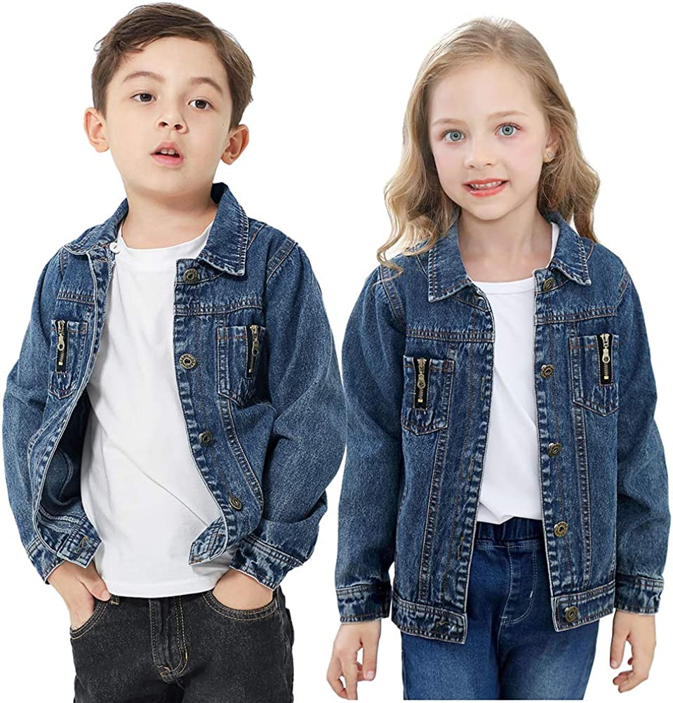 Autumn Denim Boy Jackets Kids Spring Blue Boys Coat For School 2 3 4 5 6 Years Old Kids Clothes Boys Baby Girls Winter Coats Winter Coats For Toddler