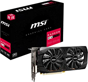 MSI Radeon RX 570 8GT OC Graphics Card, PCI-E x16, VR Ready