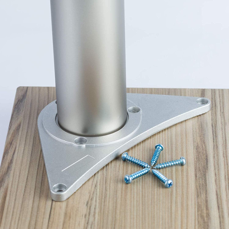 Einstellbar +2.5cm Montagezubeh/ör inklusive MKGT/® Design: Schwarz Set: 4 St/ück Tischbeine H/öhenverstellbar H/öhe: 71 cm 710 mm