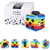 Yetech Rainbow Fidget Toy Cube Toy with Click Ball, Anti-Stress/Anti-anxiety Fidget Toys for Children, Teen, Student, Adult Stress Reliever